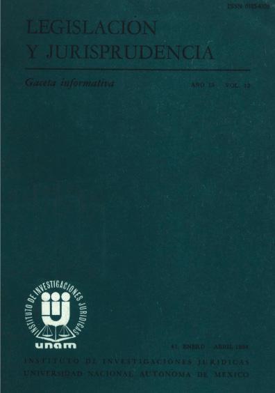 Legislación y jurisprudencia. Gaceta informativa, núm. 41
