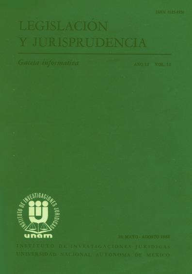 Legislación y jurisprudencia. Gaceta informativa, núm. 39
