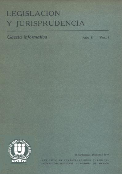 Legislación y jurisprudencia. Gaceta informativa, núm. 28
