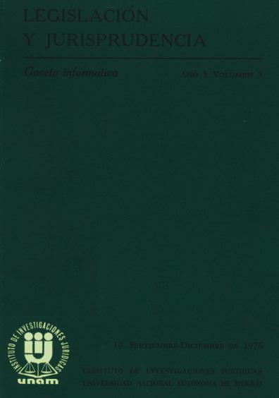 Legislación y jurisprudencia. Gaceta informativa, núm. 19