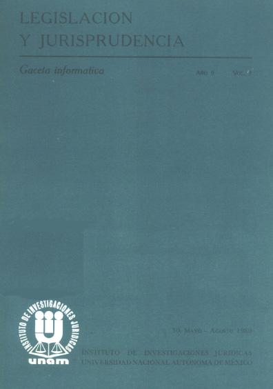Legislación y jurisprudencia. Gaceta informativa, núm. 30