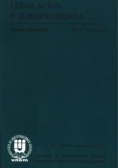 Legislación y jurisprudencia. Gaceta informativa, núm. 26