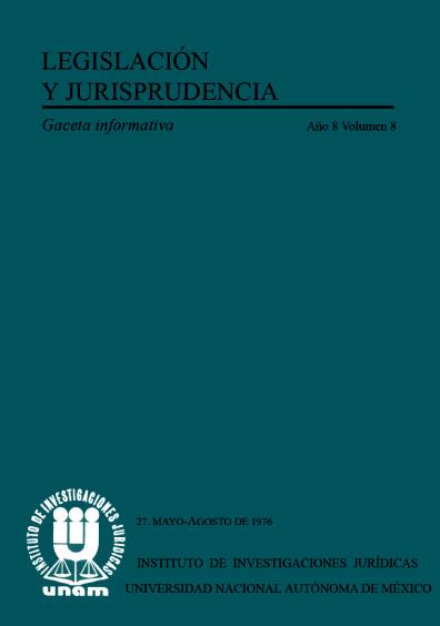 Legislación y jurisprudencia. Gaceta informativa, núm. 27