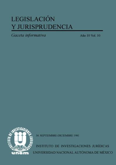 Legislación y jurisprudencia. Gaceta informativa, núm. 34
