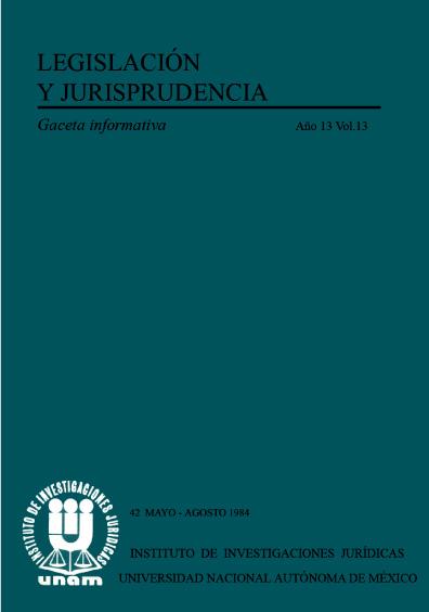 Legislación y jurisprudencia. Gaceta informativa, núm. 42