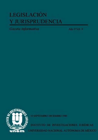 Legislación y jurisprudencia. Gaceta informativa, núm. 31