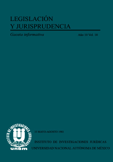 Legislación y jurisprudencia. Gaceta informativa, núm. 33