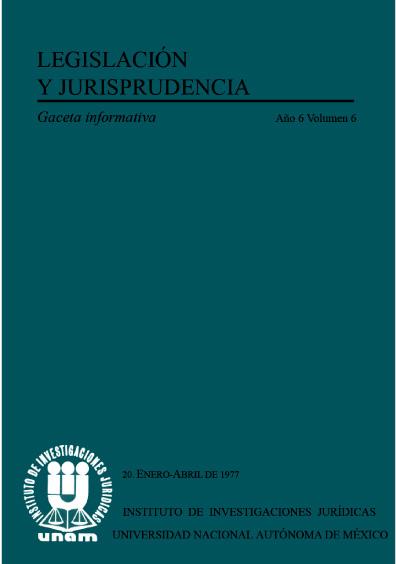 Legislación y jurisprudencia. Gaceta informativa, núm. 20