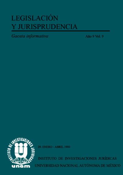 Legislación y jurisprudencia. Gaceta informativa, núm. 29