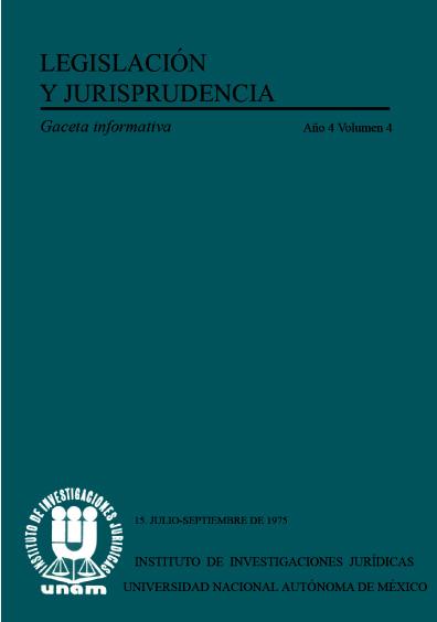 Legislación y jurisprudencia. Gaceta informativa, núm. 15