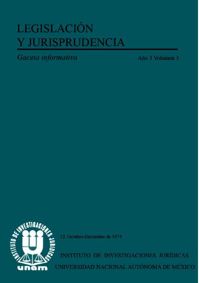 Legislación y jurisprudencia. Gaceta informativa, núm. 12