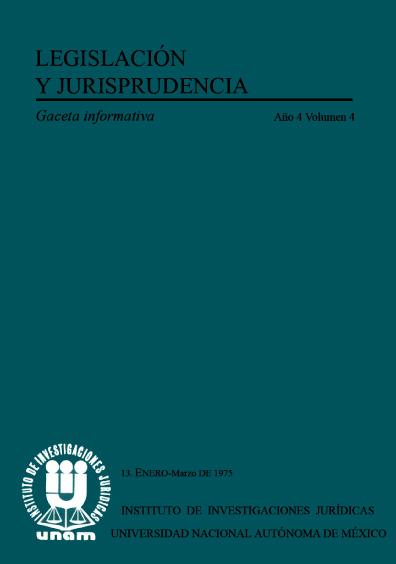 Legislación y jurisprudencia. Gaceta informativa, núm. 13
