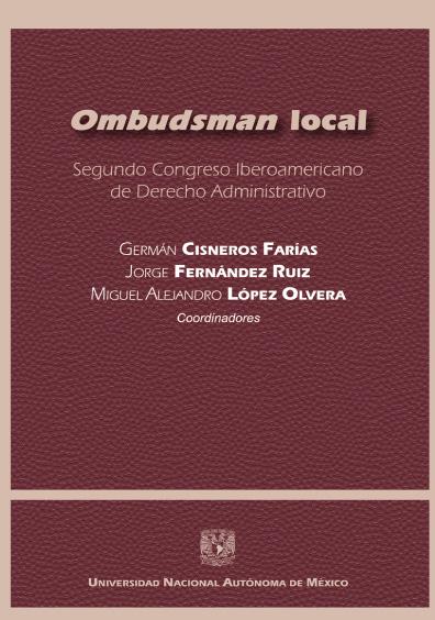Ombudsman local. Segundo Congreso Iberoamericano de Derecho Administrativo