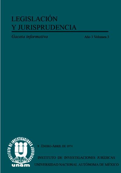Legislación y jurisprudencia. Gaceta informativa, núm. 9