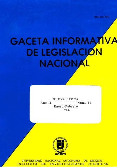Gaceta informativa de legislación nacional, núm. 11