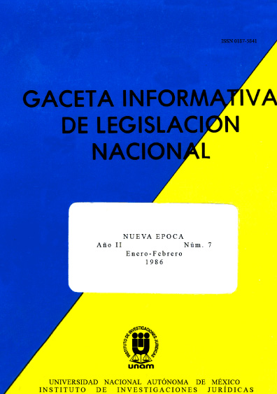 Gaceta informativa de legislación nacional, núm. 7