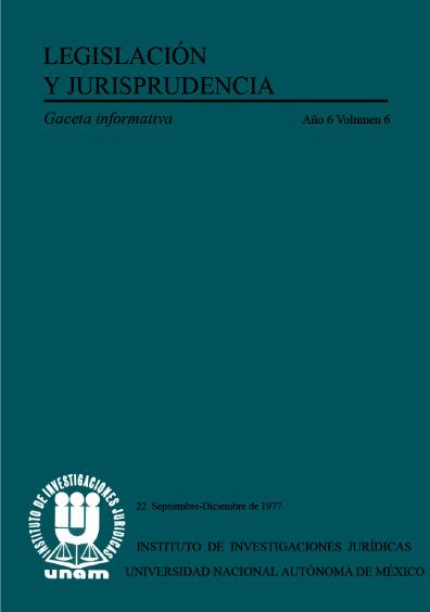 Legislación y jurisprudencia. Gaceta informativa, núm. 22