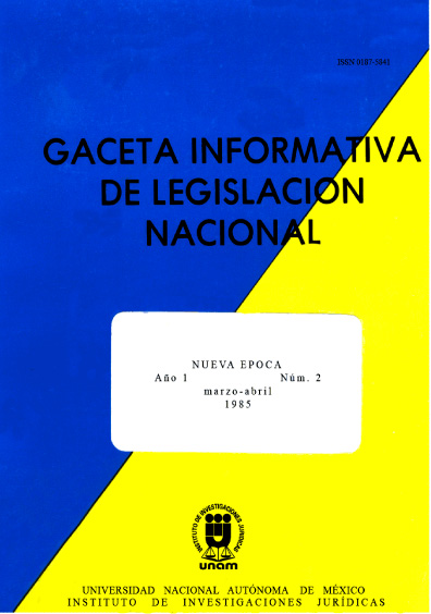 Gaceta informativa de legislación nacional, núm. 2
