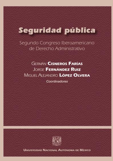 Seguridad pública. Segundo Congreso Iberoamericano de Derecho Administrativo