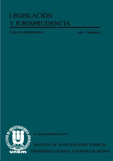 Legislación y jurisprudencia. Gaceta informativa, núm. 16