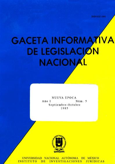 Gaceta informativa de legislación nacional, núm. 5