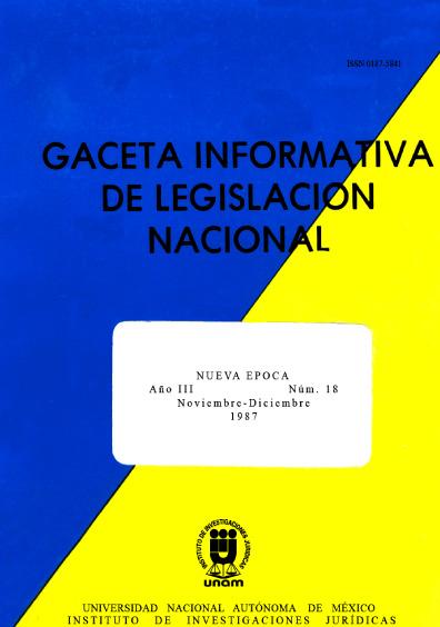 Gaceta informativa de legislación nacional, núm. 18