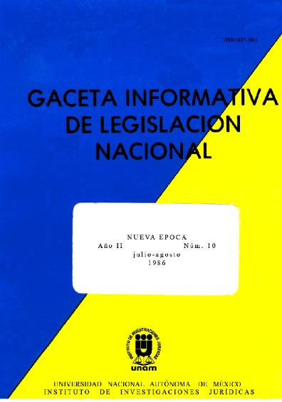 Gaceta informativa de legislación nacional, núm. 10