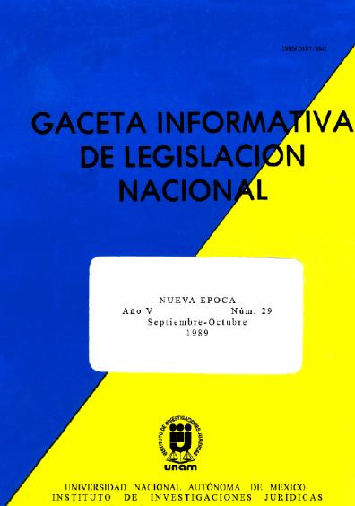 Gaceta informativa de legislación nacional, núm. 29