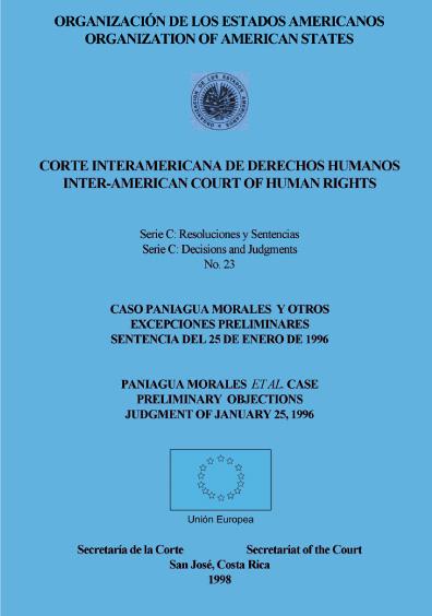 Caso Paniagua Morales y otros. Excepciones preliminares. Sentencia del 25 de enero de 1996