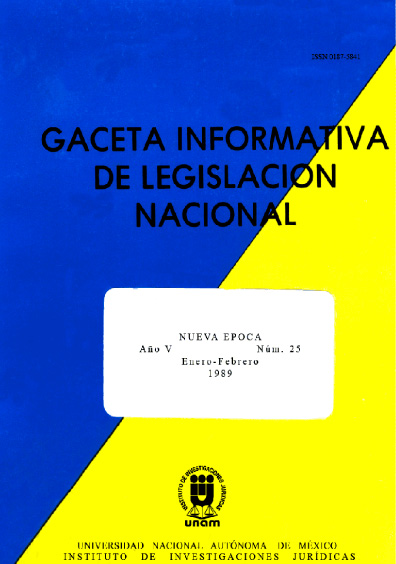 Gaceta informativa de legislación nacional, núm. 25