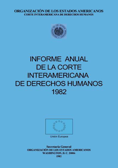 Informe anual de la Corte Interamericana de Derechos Humanos 1982