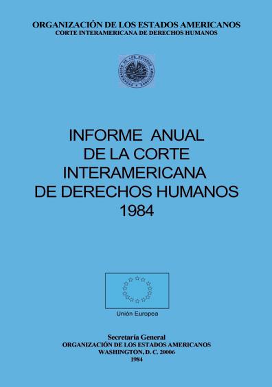 Informe anual de la Corte Interamericana de Derechos Humanos 1984