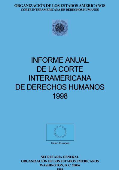 Informe anual de la Corte Interamericana de Derechos Humanos 1998