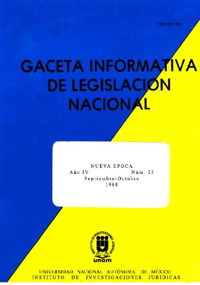 Gaceta informativa de legislación nacional, núm. 23
