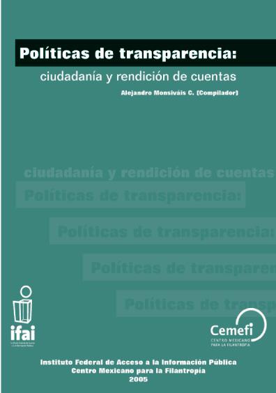 Políticas de transparencia: ciudadanía y rendición de cuentas