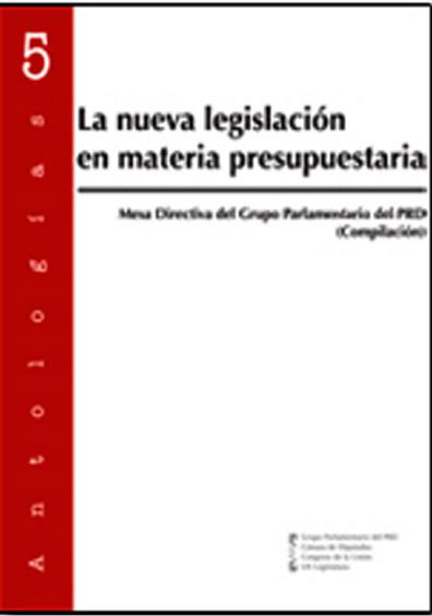 La nueva legislación en materia presupuestaria