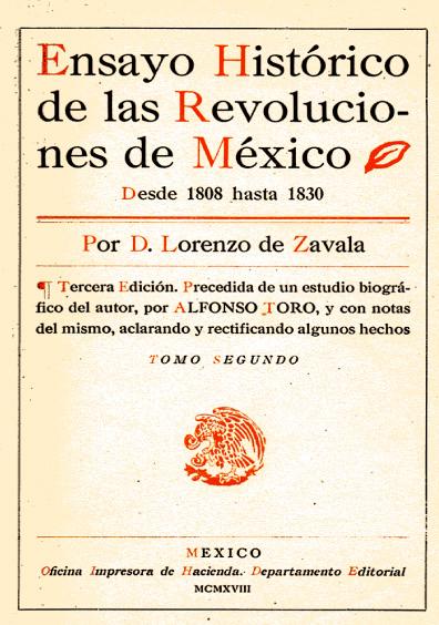 Ensayo histórico de las revoluciones de México. Desde 1808 hasta 1830, tomo segundo