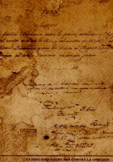 Clamores de la fidelidad americana contra la opresión. Edición facsimilar