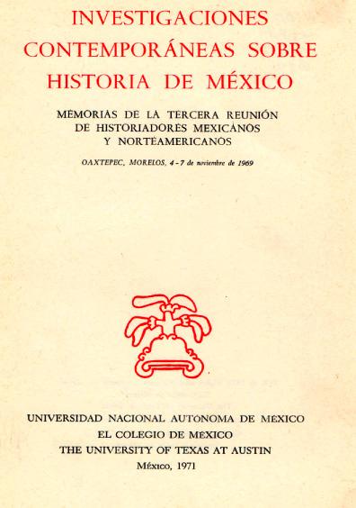 Investigaciones contemporáneas sobre historia de México