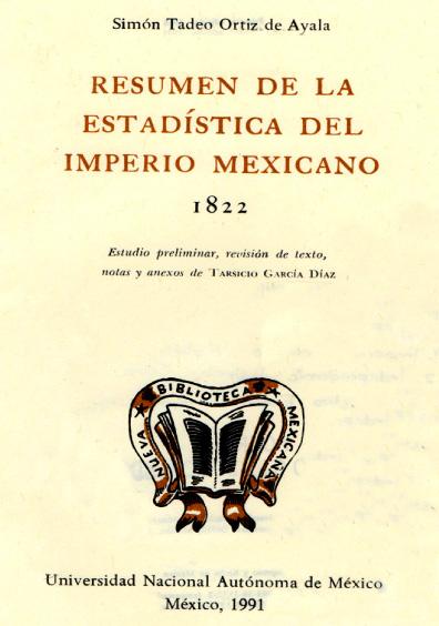 Resumen de la estadística del Imperio mexicano, 1822