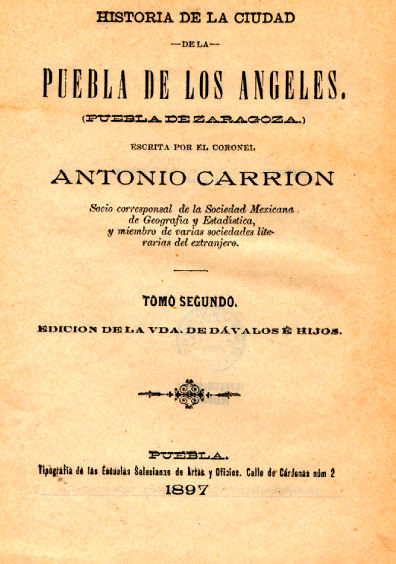 Historia de la ciudad de la Puebla de los Ángeles, tomo segundo