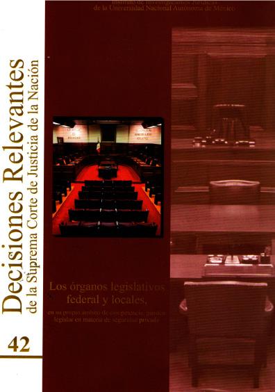 Decisiones relevantes de la Suprema Corte de Justicia de la Nación, núm. 42, Los órganos legislativos federal y locales, en su propio ámbito de competencia, pueden legislar en materia de seguridad privada
