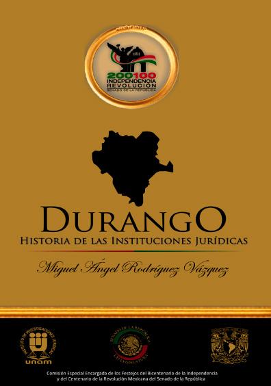 Durango. Historia de las instituciones jurídicas