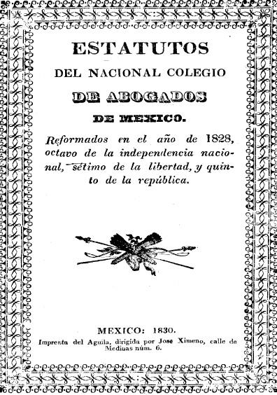 Estatutos del Nacional Colegio de Abogados de México