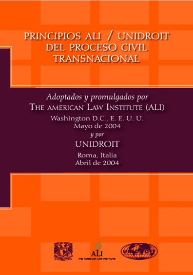 Principios ALI/UNIDROIT del proceso civil transnacional