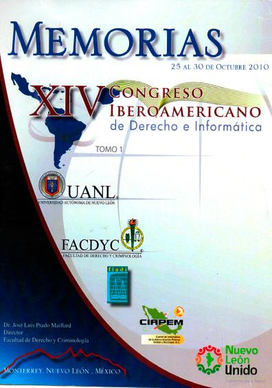 Memorias del XIV Congreso Iberoamericano de Derecho e Informática, t. 1