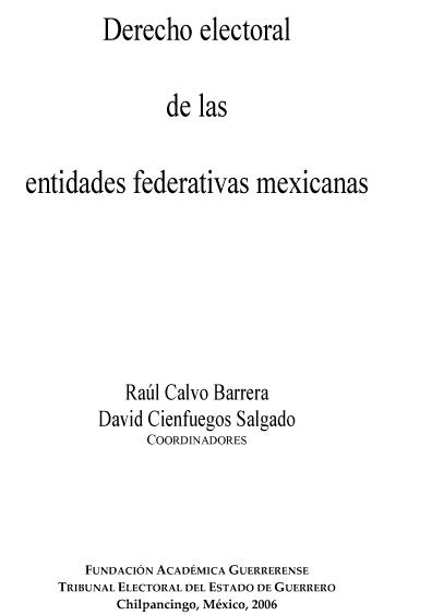 Derecho electoral de las entidades federativas mexicanas