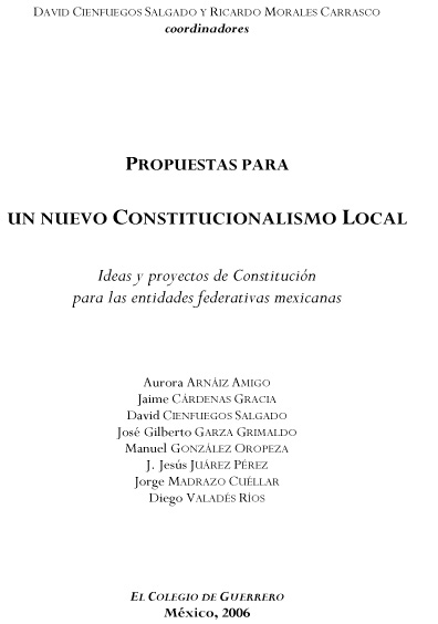 Propuestas para un nuevo constitucionalismo local