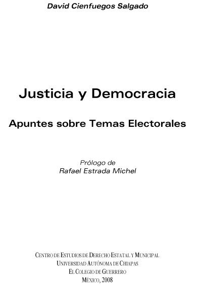 Justicia y democracia. Apuntes sobre temas electorales