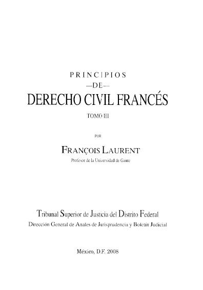 Principios de derecho civil francés, t. III